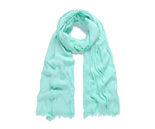 Mint modal plain long scarf