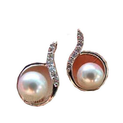 Ladies Drop Pearl Diamante Cute Charming Earrings (JW2017) with gift box
