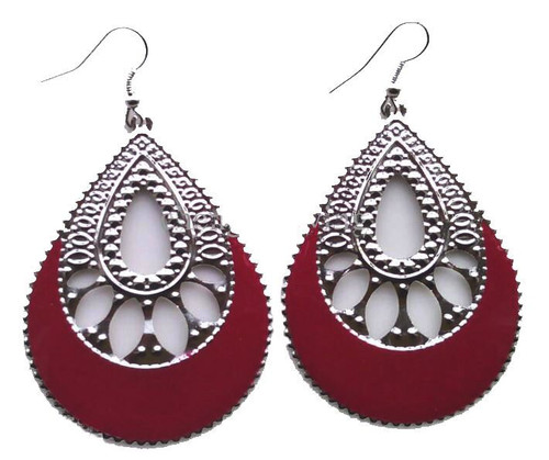 Ladies Mixed Colour Large Plated Earring Pair (JW2014) with gift box