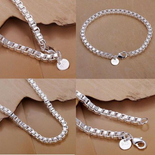 Unisex Fashion Jewelry  Silver plated  Bracelets  JW2000 with gift box
