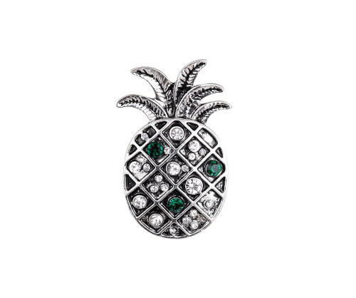 Antique silver diamante pineapple brooch with gift box