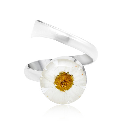 925 Silver adjustable Ring - Daisy