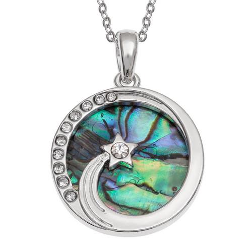 Tide Jewellery inlaid Paua shell Shooting Star pendant