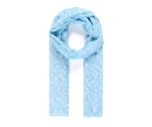 Catherine Lansfield blue butterfly print scarf