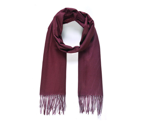 Burgundy and pink double side blanket scarf