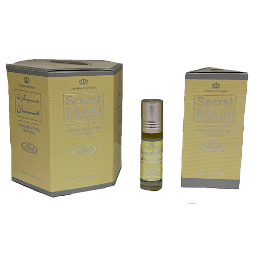 Al-Rehab Secret Man Roll On Perfume Oil - 6ml (Without Retail Box)