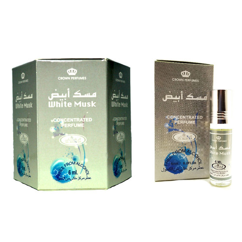 Al-Rehab White Musk Roll On Perfume Oil - 6ml (Without Retail Box)