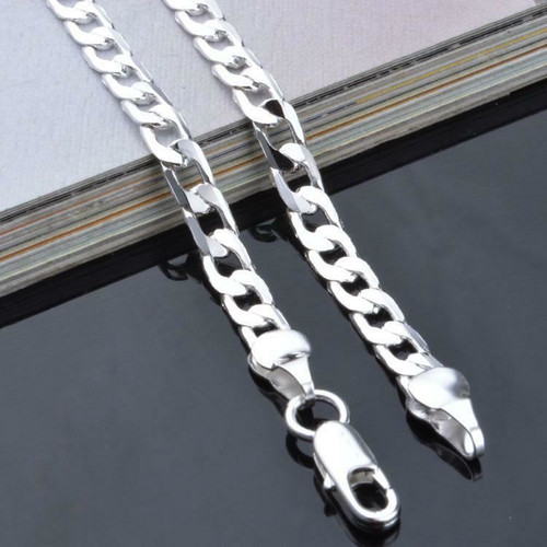 Unisex Fashion Sterling Silver Chain Necklace (JW2001)