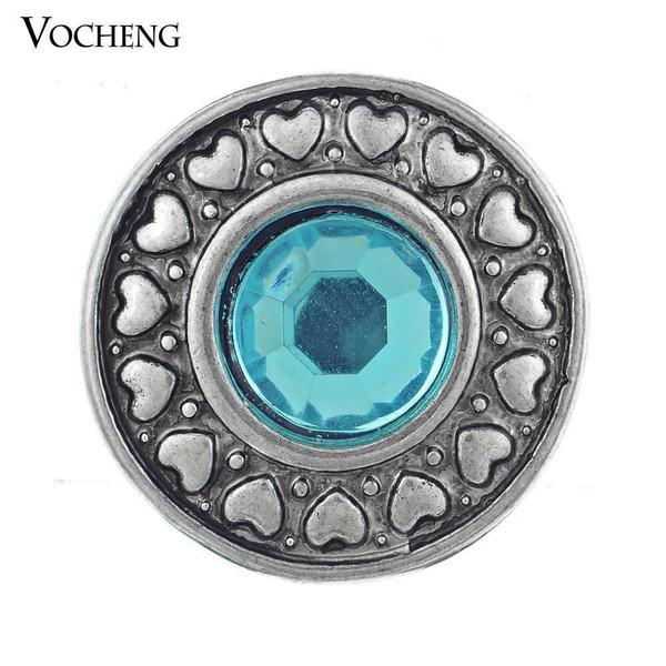 Noosa Blue Sapphire Snap Button