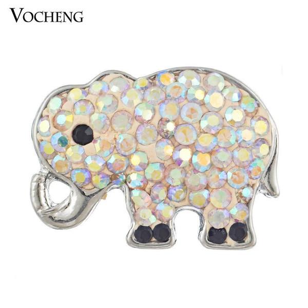 Noosa Crystal Elephant Snap Button