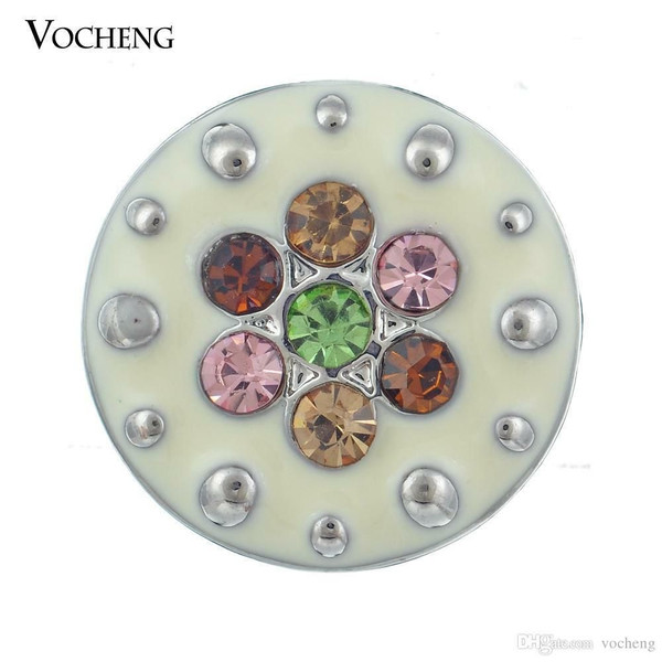 Noosa Multi Colour Flower Snap Button