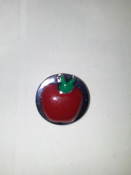 Noosa Red Apple Snap Button