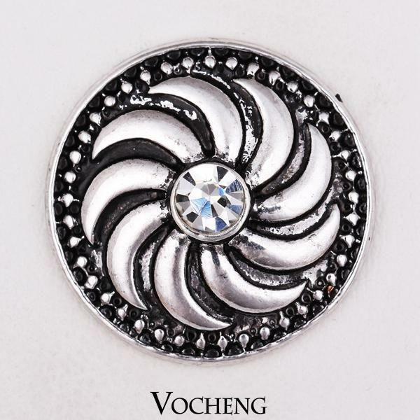 Noosa Spiral Stone Snap Button