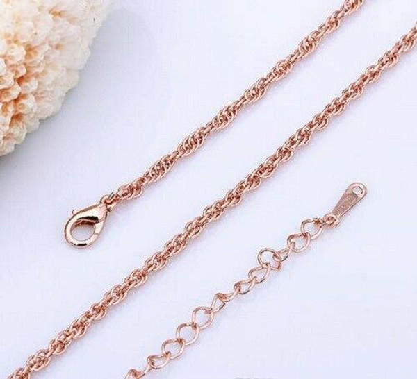 Rose Gold Plated Twist Rope Chain 1.5MM 26'' Chain