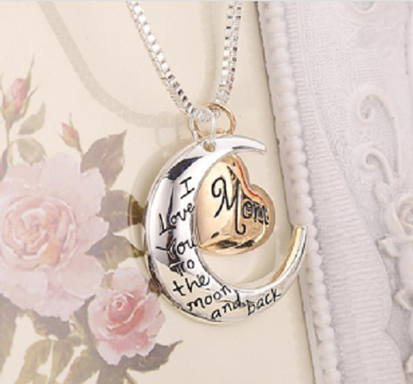 I Love You To The Moon And Back' Mom Pendant Necklace