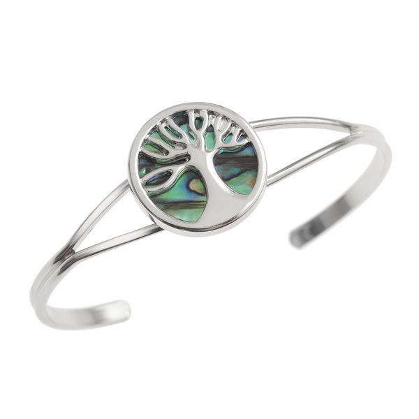 Tide Jewellery inlaid Paua shell Tree of Life bangle