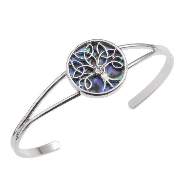 Tide Jewellery inlaid Paua shell Celtic Tree of Life bangle
