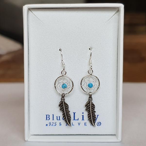 925 Silver Dreamcatcher Earrings