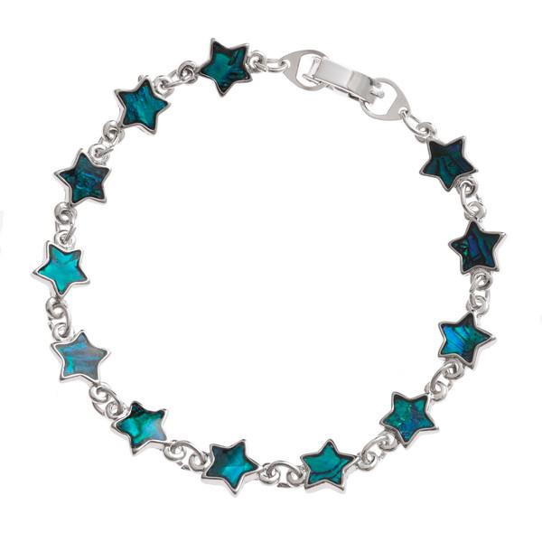 Tide Jewellery inlaid blue Paua shell star bracelet
