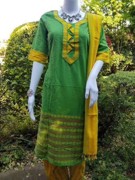 Light Green Monipuri Salwar Kameez - X Large