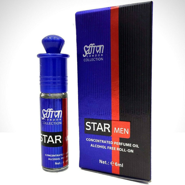 Saffron Star Men Roll On Perfume Oil - 6ml (With Retail Box)
