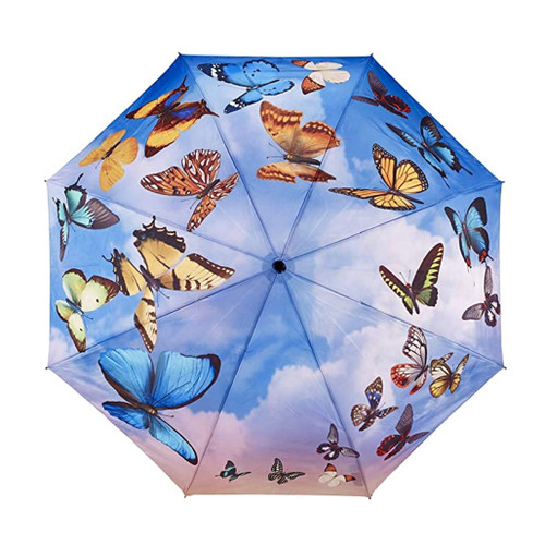 Butterfly umbrella, manual opening