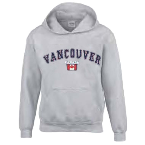 Pullover Hoody, 'Vancouver' lettering and small Canadian flag