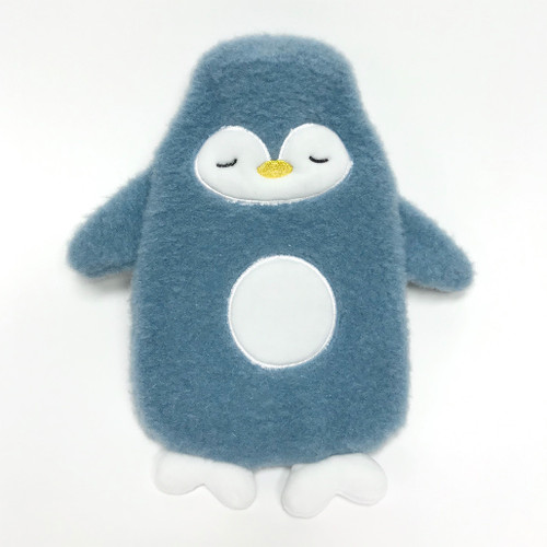 Penguin hot water bottle - front view