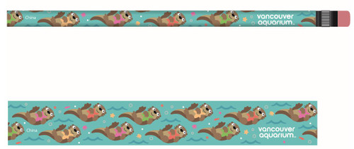 Kids' pencil with Otters pattern