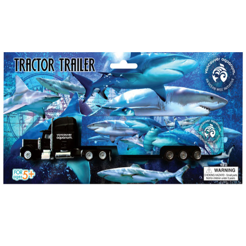 Kids' Tractor Trailer toy truck with shark pattern