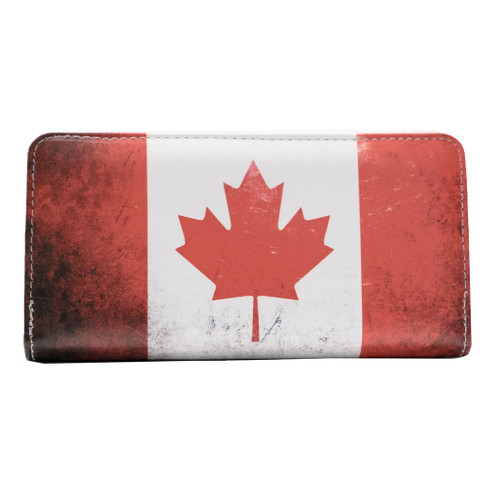 Zippered Wallet - Canadian Flag, large