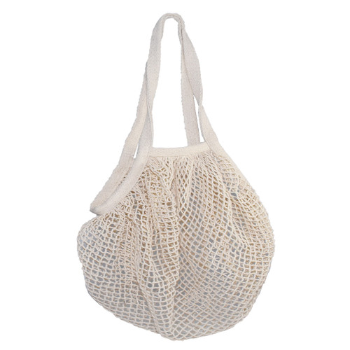 Beige cotton grocery tote bag