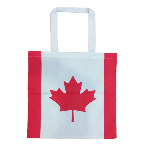 Canadian Flag Cotton Tote Bag