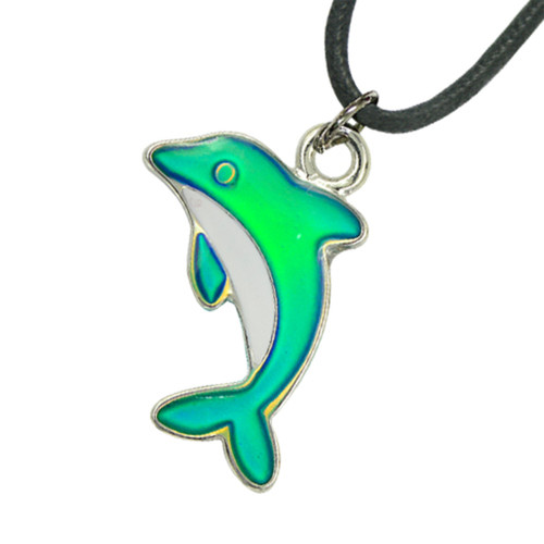Mood Necklace, dolphin