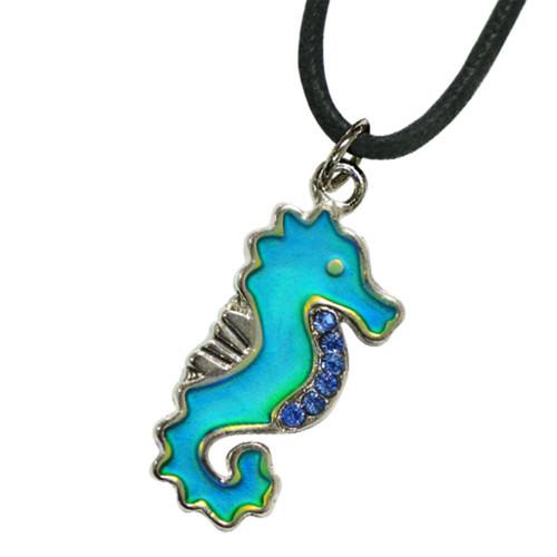 Mood Necklace, seahorse