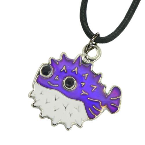 Mood Necklace, pufferfish