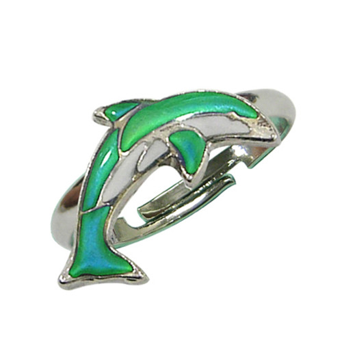 Mood Ring, dolphin, mosaic style