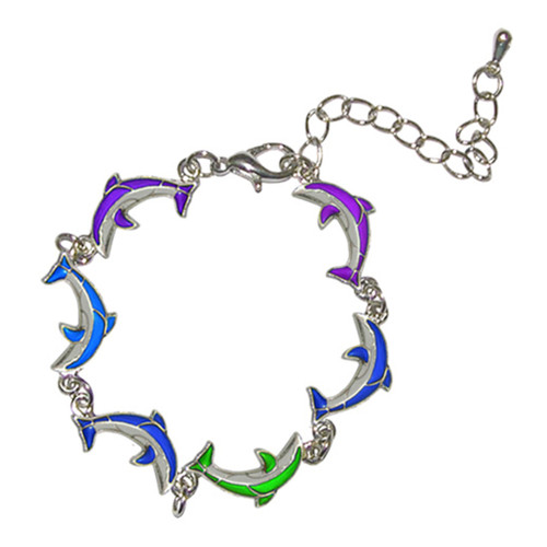 Mood Bracelet, Chain of Dolphins