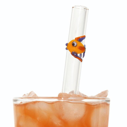 Reusable Glass Straw - Fish