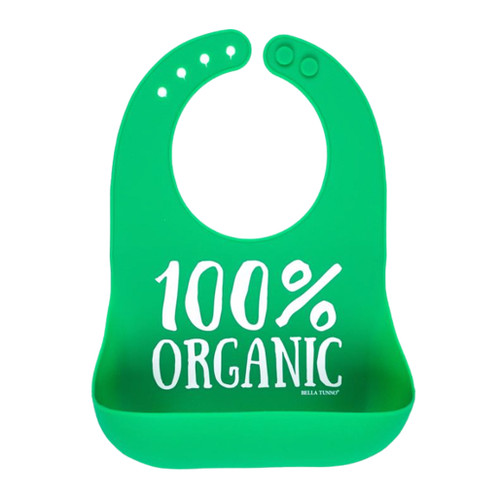 Baby's bib with lettering '100% Organic'