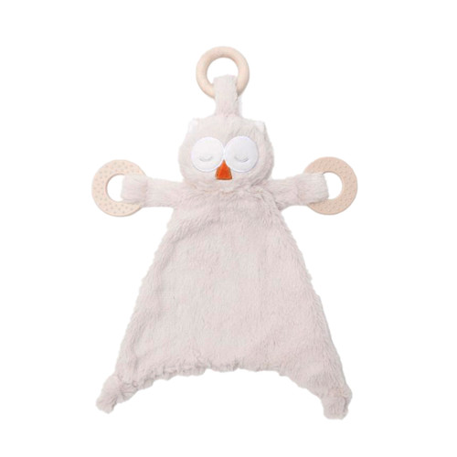 Baby's teether in the shape of an owl