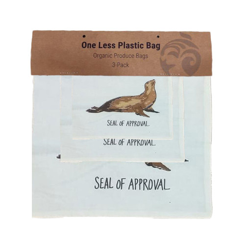 Sea Lion Cotton Produce/Food Bags - 3 Pack