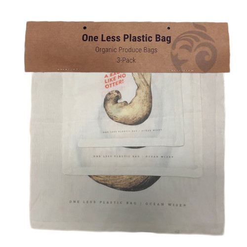 Sea Otter Cotton Produce/Food Storage Bags - 3 Pack