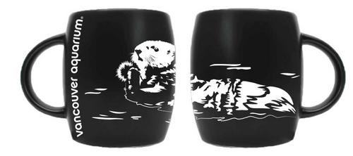 Sea Otter Etch Mug - Black