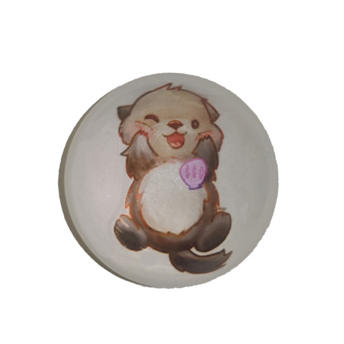 Cute Sea Otter magnet, round