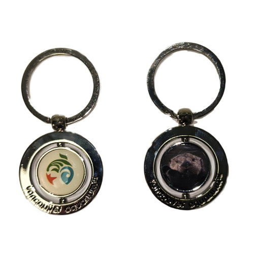 Sea Otter key ring with spinning Vancouver Aquarium logo