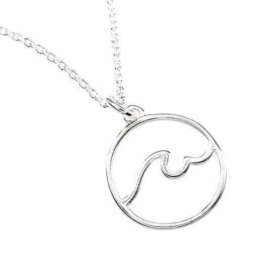 wave outline necklace
