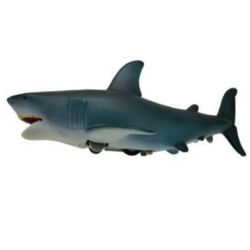 Action toy, friction, blue shark