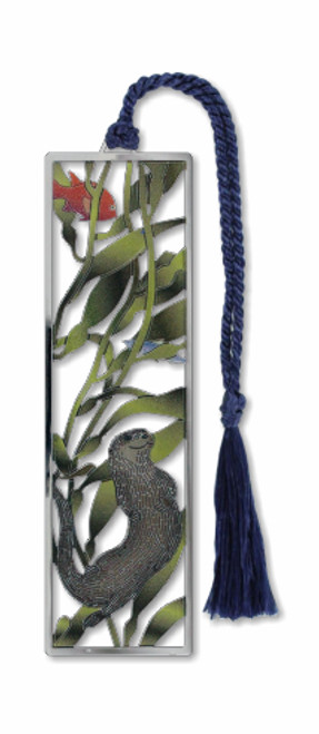 sea otter and kelp bookmark