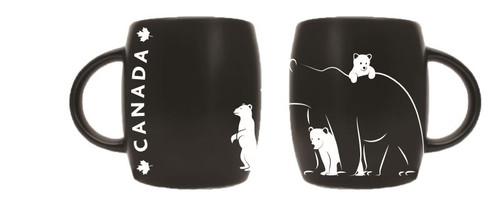 Bear and cubs etched mug